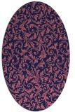 rug #980421   oval blue-violet damask rug