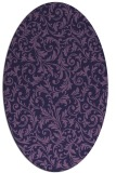 rug #980425   oval blue-violet damask rug