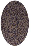 rug #980434 | oval damask rug