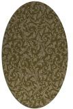 rug #980441   oval brown damask rug
