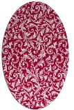 rug #980445   oval red damask rug