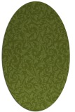 rug #980453 | oval green damask rug