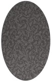 rug #980473 | oval mid-brown natural rug