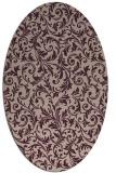 rug #980485 | oval pink natural rug