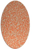 rug #980533 | oval orange natural rug