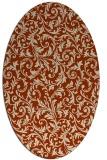 rug #980535 | oval damask rug