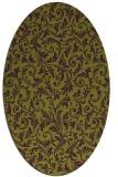 rug #980562 | oval damask rug