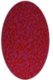 rug #980585 | oval red natural rug