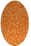 rug #980593 | oval red-orange damask rug