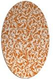 rug #980601 | oval red-orange damask rug