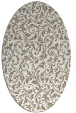 rug #980625 | oval white natural rug