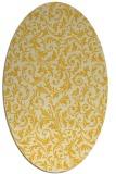rug #980629   oval yellow damask rug