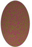 rug #980661 | oval pink natural rug