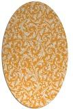 rug #980681 | oval light-orange damask rug