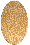 rug #980681 | oval white damask rug
