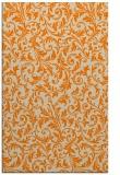 rug #980685    orange damask rug