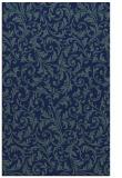 rug #980725    blue-green damask rug