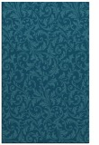 rug #980757 |  blue-green damask rug