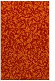 rug #980937 |  orange damask rug