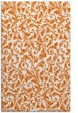 rug #980961 |  red-orange damask rug