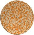 rug #981045   round orange damask rug