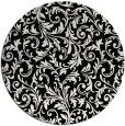 rug #981049 | round black natural rug