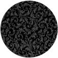 rug #981053 | round black damask rug