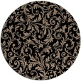 rug #981057 | round black natural rug