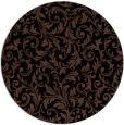 rug #981061 | round black damask rug