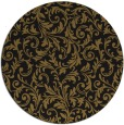 rug #981065 | round mid-brown damask rug