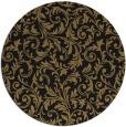 rug #981073 | round black damask rug