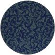 rug #981085 | round blue-green damask rug