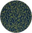 rug #981089   round blue damask rug
