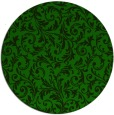 rug #981105 | round green damask rug