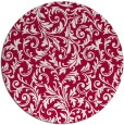 rug #981165 | round red natural rug