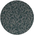 rug #981177 | round green damask rug