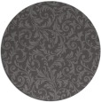 rug #981193 | round mid-brown damask rug