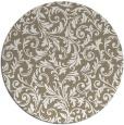 rug #981201 | round mid-brown damask rug