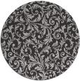 rug #981257 | round orange damask rug