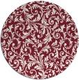 rug #981265 | round pink damask rug