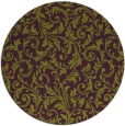 rug #981281 | round green damask rug