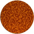rug #981309 | round red-orange damask rug