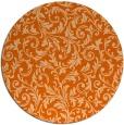 rug #981313 | round red-orange natural rug