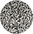rug #981325 | round black natural rug