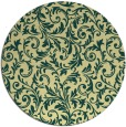 rug #981369 | round blue-green natural rug