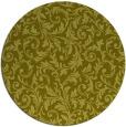rug #981373 | round light-green damask rug
