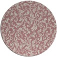 rug #981393 | round pink natural rug