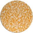 rug #981401 | round light-orange damask rug