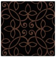 rug #981781 | square black damask rug
