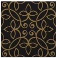 rug #981793 | square mid-brown damask rug